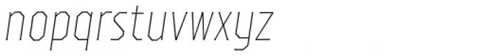 TT Octas Thin Italic Font LOWERCASE