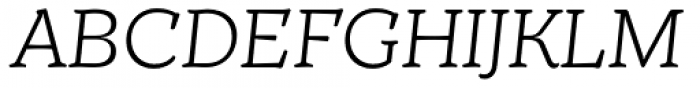 TT Phobos Light Italic Font UPPERCASE