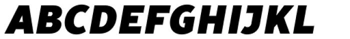 TT Prosto Sans Condensed Black Italic Font UPPERCASE