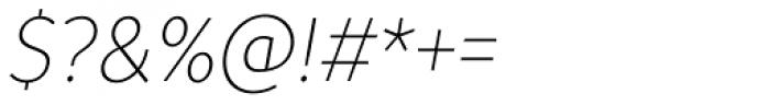 TT Prosto Sans Condensed Thin Italic Font OTHER CHARS