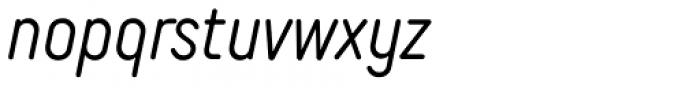 TT Rounds Neue Compressed Light Italic Font LOWERCASE