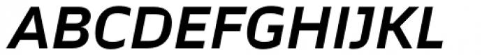 TT Severs Demi Bold Italic Font UPPERCASE