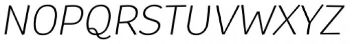 TT Souses Light Italic Font UPPERCASE