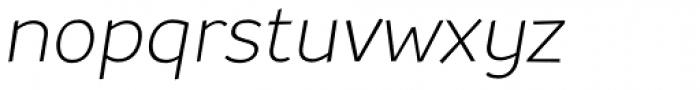 TT Souses Light Italic Font LOWERCASE