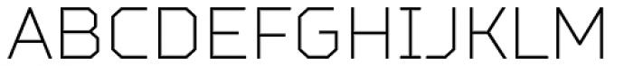 TT Squares Condensed Thin Font UPPERCASE
