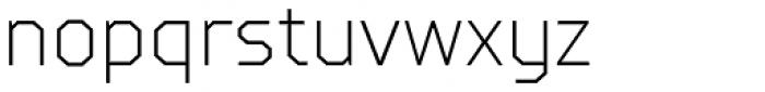 TT Squares Condensed Thin Font LOWERCASE