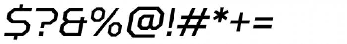 TT Squares Italic Font OTHER CHARS