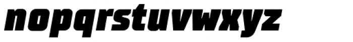 TT Supermolot Condensed Black Italic Font LOWERCASE