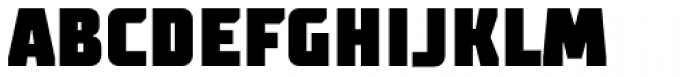 TT Supermolot Condensed Black Font UPPERCASE
