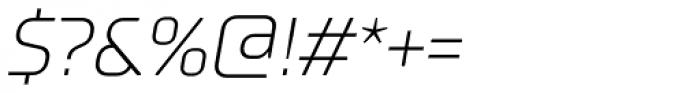 TT Supermolot Light Italic Font OTHER CHARS