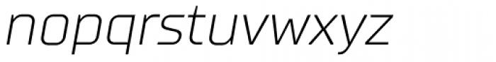 TT Supermolot Light Italic Font LOWERCASE