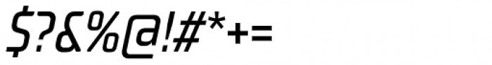 TT Supermolot Neue Condensed Medium Italic Font OTHER CHARS