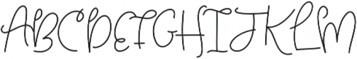 Tuesday otf (400) Font UPPERCASE