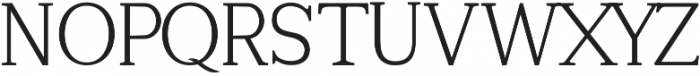Tugano Light otf (300) Font UPPERCASE
