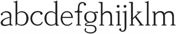 Tugano Light otf (300) Font LOWERCASE