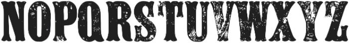 Tulyar Eroded ttf (400) Font UPPERCASE