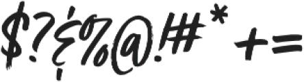 Turbinado otf (400) Font OTHER CHARS