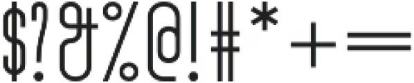 Turn Denmark Light otf (300) Font OTHER CHARS