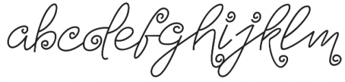 Turning And Curling Regular otf (400) Font LOWERCASE