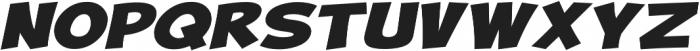 Turnstyle Expanded Italic otf (400) Font UPPERCASE