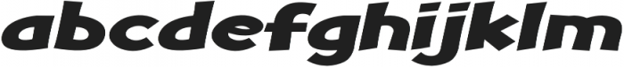 Turnstyle Expanded Italic otf (400) Font LOWERCASE