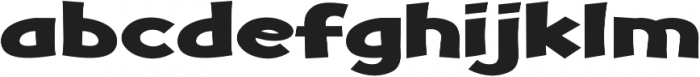 Turnstyle Expanded Regular otf (400) Font LOWERCASE