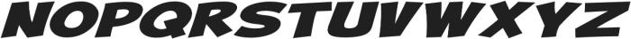 Turnstyle Extra-expanded Italic otf (400) Font UPPERCASE