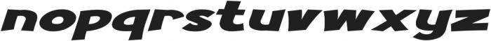 Turnstyle Extra-expanded Italic otf (400) Font LOWERCASE