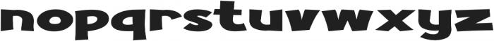 Turnstyle Extra-expanded Regular otf (400) Font LOWERCASE