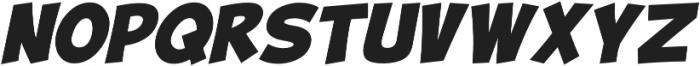 Turnstyle Italic otf (400) Font UPPERCASE