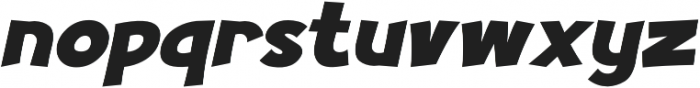 Turnstyle Italic otf (400) Font LOWERCASE
