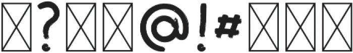TurquoiseBrush Regular otf (400) Font OTHER CHARS