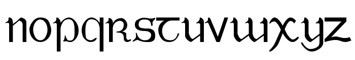 Tuamach Regular Font LOWERCASE