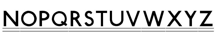 Tube Station-Plus. Font UPPERCASE