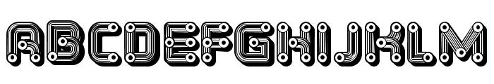 Tubes Extravagant Regular Font LOWERCASE