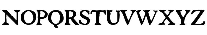 Tuer's Cardboard Font UPPERCASE