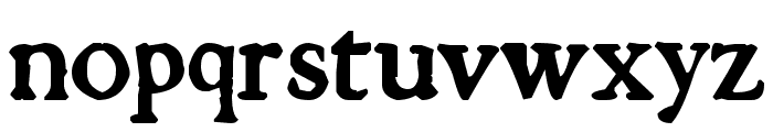 Tuer's Cardboard Font LOWERCASE