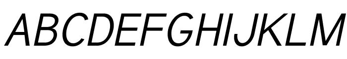 Tuffy Italic Font UPPERCASE