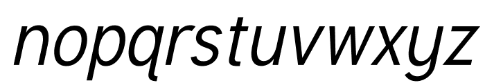 Tuffy Italic Font LOWERCASE