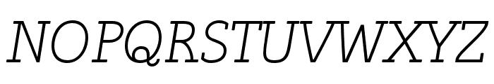 Tulia-Italic Font UPPERCASE