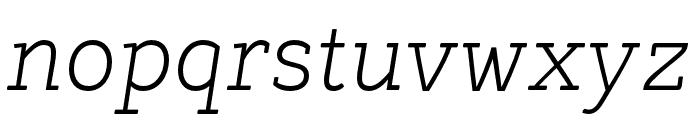 Tulia-Italic Font LOWERCASE