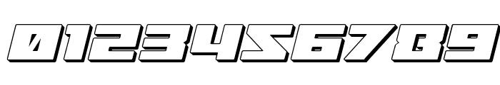 Turbo Charge 3D Italic Font OTHER CHARS