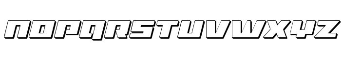 Turbo Charge 3D Italic Font UPPERCASE
