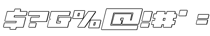 Turbo Charge Outline Italic Font OTHER CHARS