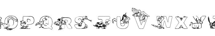 Turf&surf Font UPPERCASE