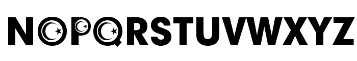 Turkish Participants Font UPPERCASE
