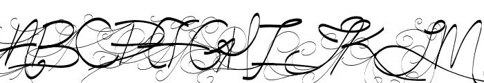 Turn Back Time Font UPPERCASE