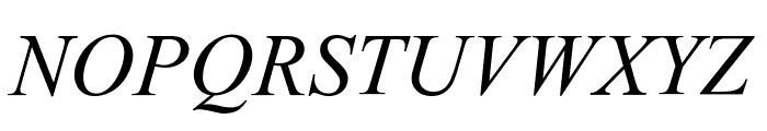 Turn W Italic Font UPPERCASE