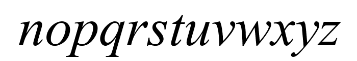 Turn W Italic Font LOWERCASE