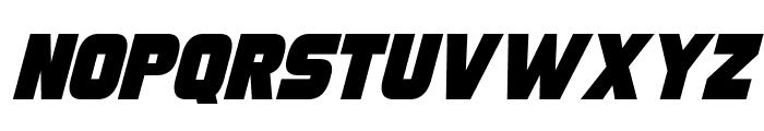 Turnaround Italic Font UPPERCASE